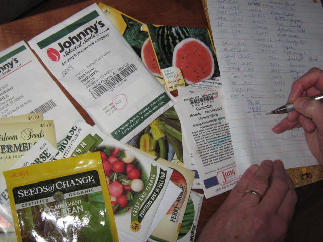 this is a good time of the year to sort through all of those left over garden seeds.