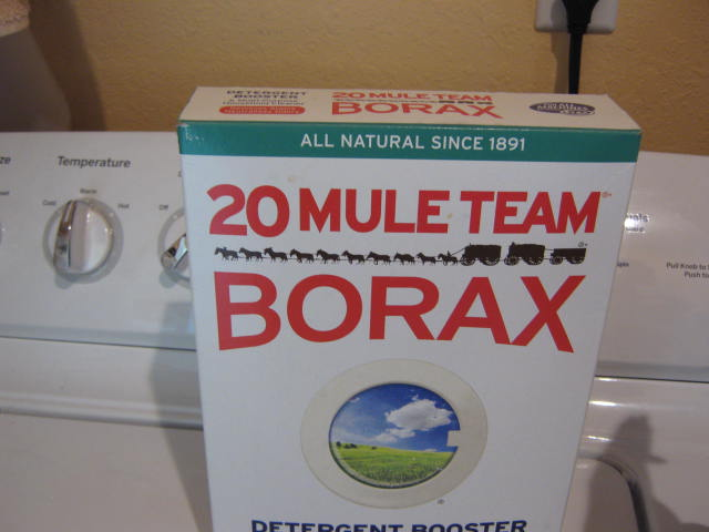 Disolve borax in some hot water first. Then add that solution to the rest of the water.
