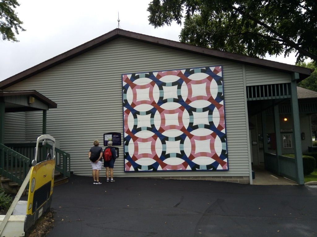 Quilt makers will recognize the quilt patters.